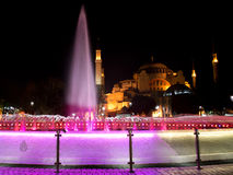 Hagia Sophia at night Royalty Free Stock Images