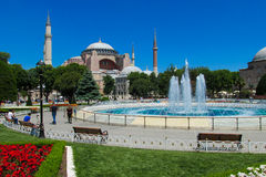 Hagia Sophia no quadrado de Sultanahmet, Istambul, Turquia imagens de stock royalty free