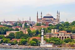 Hagia Sophia och Istanbul Arkivbilder