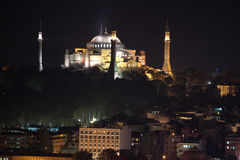 Hagia Sophia od galata wierza Zdjęcia Stock