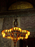 Hagia Sophia old chandelier Stock Image