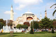 Hagia Sophia Museum in Istanbul royalty free stock photo