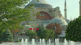 Hagia Sophia pan Istanbul stock video footage