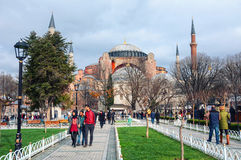 Hagia Sophia park in Istanbul, Turkey Royalty Free Stock Image