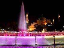 Hagia Sophia przy nocą Obrazy Royalty Free