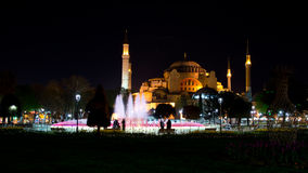 Hagia Sophia przy nocą Obraz Stock