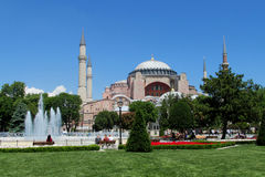 Hagia Sophia, quadrado de Sultanahmet, Istambul, Turquia imagens de stock royalty free