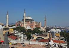 Hagia Sophia and Rooftops Royalty Free Stock Photography