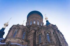 Hagia Sophia. San Sophia`s Church in Harbin, China Royalty Free Stock Photos
