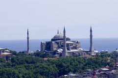 Hagia sophia on the shore of marmara Royalty Free Stock Image
