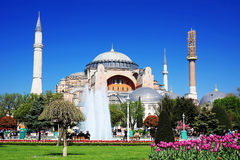 Hagia Sophia in Spring Stock Photos
