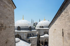 Hagia Sophia and Sultan Ahmet Mosque in Instanbul Stock Image