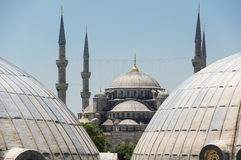 Hagia Sophia and Sultan Ahmet Mosque in Instanbul Royalty Free Stock Photography