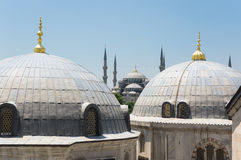 Hagia Sophia and Sultan Ahmet Mosque in Instanbul Stock Photo