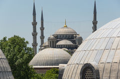 Hagia Sophia and Sultan Ahmet Mosque in Instanbul Stock Photography