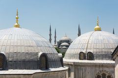 Hagia Sophia and Sultan Ahmet Mosque in Instanbul Stock Images