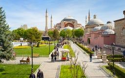 Hagia Sophia in Sultanahmet district of Istanbul, Turkey Royalty Free Stock Photo