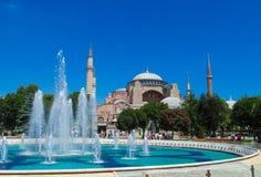 Hagia Sophia in Sultanahmet square, Istanbul, Turkey Stock Photos