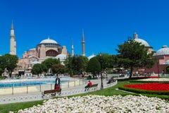Hagia Sophia in Sultanahmet square, Istanbul, Turkey Stock Images