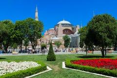 Hagia Sophia in Sultanahmet square, Istanbul, Turkey Royalty Free Stock Image
