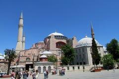 Hagia Sophia, Sultanahmet-vierkant, Istanboel, Turkije stock afbeeldingen