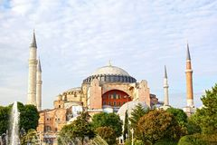 Hagia Sophia in summer Royalty Free Stock Photos