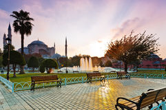 Hagia Sophia at sunrise, Istanbul Stock Photography