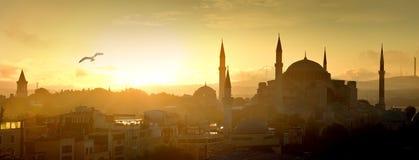 Hagia Sophia at sunrise Stock Photos