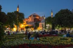 Hagia Sophia on sunset, Istanbul Royalty Free Stock Photo
