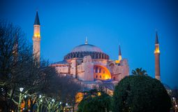 Hagia Sophia at sunset Royalty Free Stock Image