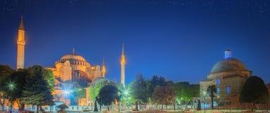 Hagia Sophia tidigt på natten i Istanbul Royaltyfri Foto