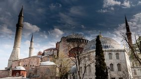 Hagia Sophia Time Lapse almacen de video