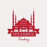 Hagia Sophia, Turkije, Istanboel stock illustratie