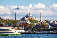 Hagia Sophia und Eminonu stockbilder