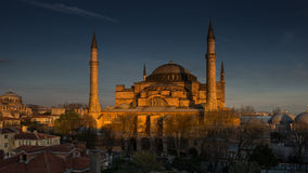 Hagia Sophia under evening light Stock Photography