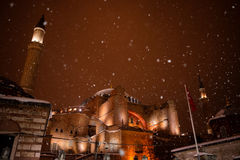 Hagia Sophia under snow Royalty Free Stock Images