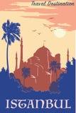 Hagia Sophia vintage poster blue Stock Photography