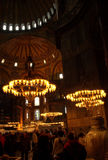 Hagia Sophia visitors Royalty Free Stock Photo