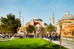 Hagia Sophia w Istanbuł, Turcja wcześnie w ranku Obraz Royalty Free