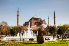 Hagia Sophia w Istanbuł, Turcja wcześnie w ranku Fotografia Stock