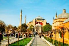 Hagia Sophia w Istanbuł, Turcja wcześnie w ranku Obrazy Stock