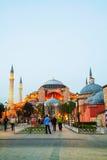 Hagia Sophia w Istanbuł, Turcja wcześnie w wieczór Obrazy Royalty Free