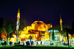 Hagia Sophia w Istanbuł, Turcja wcześnie w wieczór Zdjęcie Royalty Free