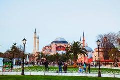 Hagia Sophia w Istanbuł, Turcja w wieczór Obrazy Royalty Free