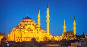 Hagia Sophia wcześnie przy nocą w Istanbuł Fotografia Royalty Free