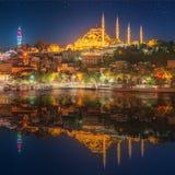 Hagia Sophia wcześnie przy nocą w Istanbuł Zdjęcie Royalty Free