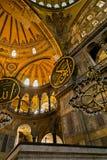 Hagia Sophia Wewnętrzny widok oddolny kopuły Istanbuł, Turcja obraz royalty free