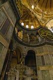 Hagia Sophia Wewnętrzny widok oddolny kopuły Istanbuł, Turcja fotografia stock
