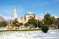 Hagia Sophia in winter Royalty Free Stock Image