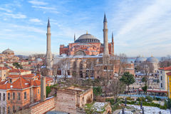 Hagia Sophia in winter evening Royalty Free Stock Images